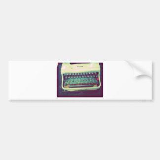 Vintage Typewriter Bumper Sticker