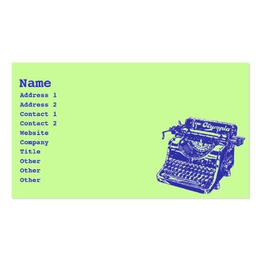 Vintage Typewriter Business Cards