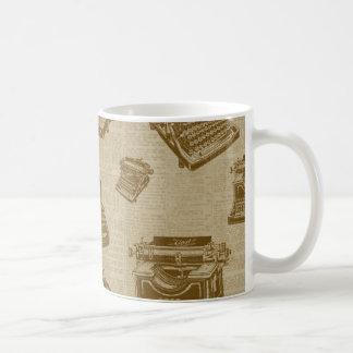 Vintage Typewriter Collage Coffee Mug