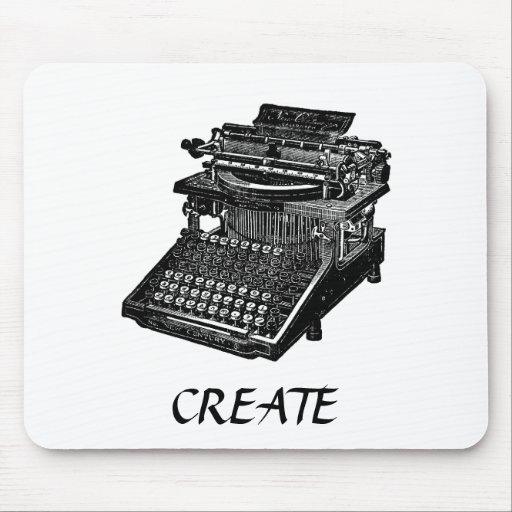 Vintage Typewriter CREATE Mousepad