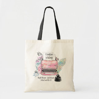 Vintage Typewriter Creative Writing Tote Bag