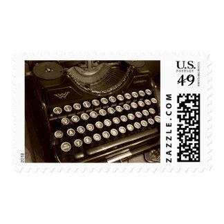 Vintage Typewriter Custom Postage Stamps Stamps