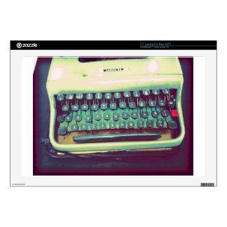 "Vintage Typewriter Decals For 17"" Laptops"