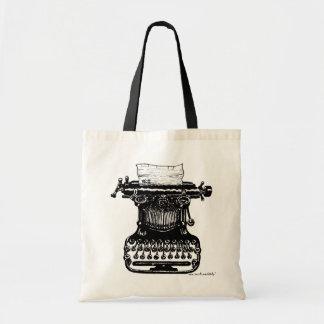 Vintage typewriter graphic art bag design