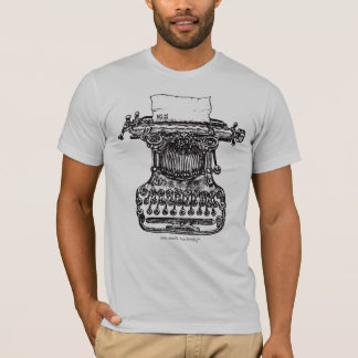 Vintage typewriter graphic art t-shirt design