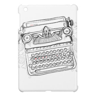 Vintage Typewriter, Hand Drawn, Gifts for Writers iPad Mini Cases