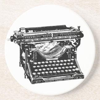 Vintage Typewriter Illustration Coaster
