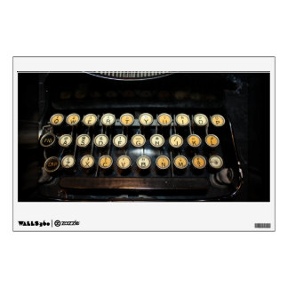 Vintage Typewriter Keyboard Room Graphics