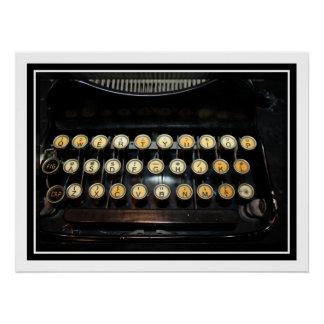Vintage Typewriter Keyboard Perfect Poster