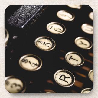 Vintage Typewriter Keys Coaster