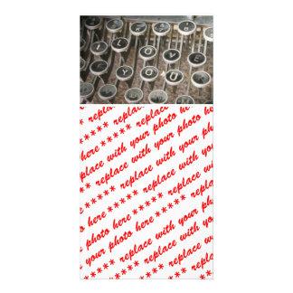 """Vintage Typewriter Keys """"I Love You"""" Customized Photo Card"""
