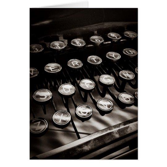 Vintage Typewriter Keys in Black and White Card