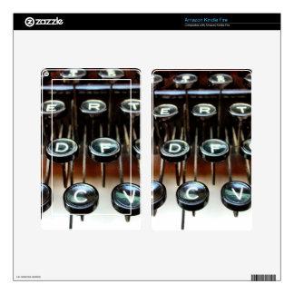 Vintage Typewriter Keys Keyboard Kindle Fire Skin