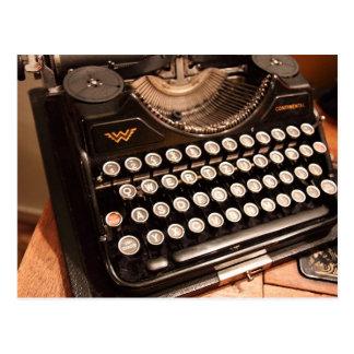 Vintage Typewriter Keys Office Party Invitation Postcard