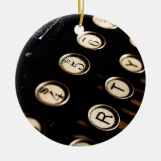 Vintage Typewriter Keys Ornament