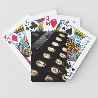Vintage Typewriter Keys Playing Cards