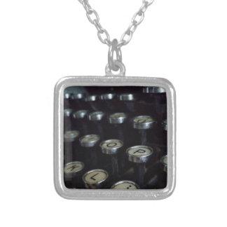 Vintage Typewriter Keys Sm. Silver Plated Necklace