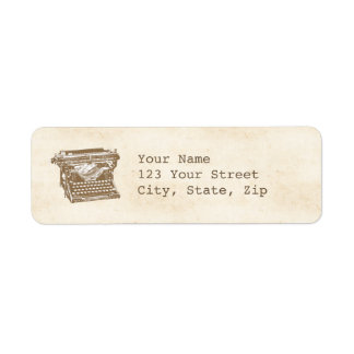 Vintage Typewriter Label