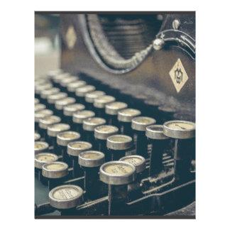 Vintage Typewriter Customized Letterhead