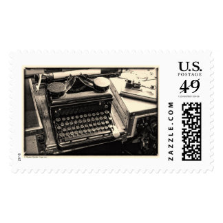 Vintage Typewriter on Board the USS COD Postage Stamp