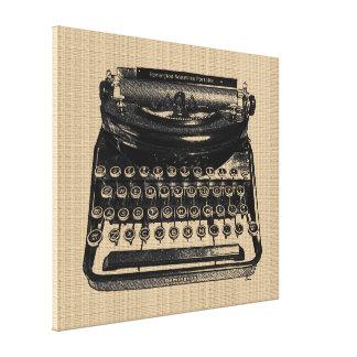 Vintage Typewriter on Canvas