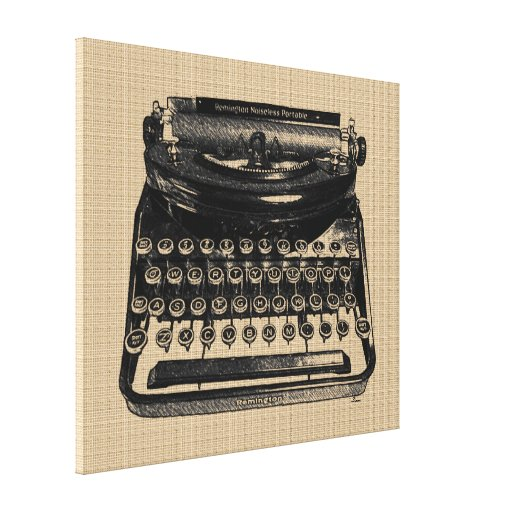 Vintage Typewriter on Canvas Canvas Prints