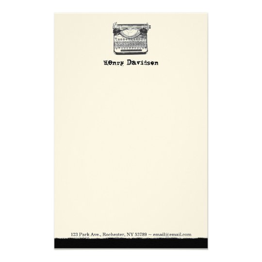 Vintage Typewriter Personalized Stationery Zazzle Com