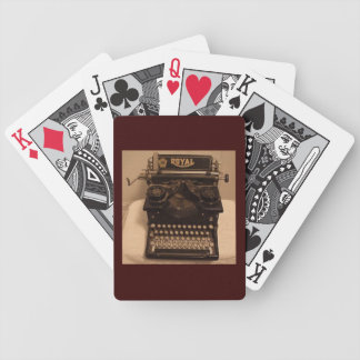 vintage typewriter, playing cards, writing, writer bicycle playing cards