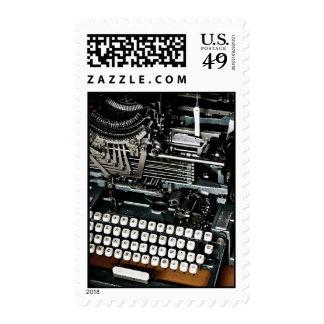 Vintage typewriter postage stamp