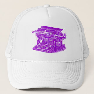 Vintage Typewriter - Purple Trucker Hat