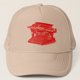 Vintage Typewriter - Red Trucker Hat