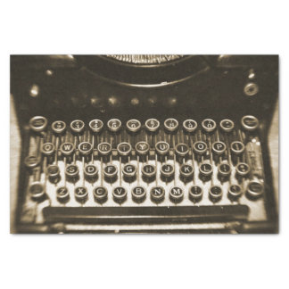 Vintage Typewriter Tissue Paper