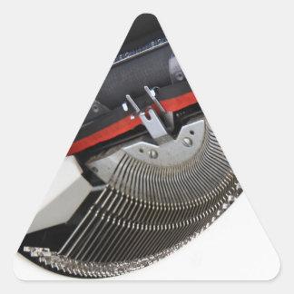 Vintage typewriter triangle sticker