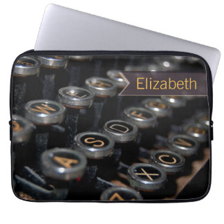 Vintage Typewriter Writer Custom Name Laptop Sleeves