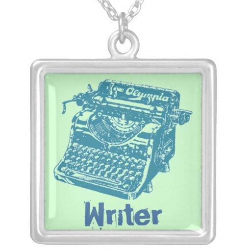 """Vintage Typewriter """"Writer"""" Necklaces"""