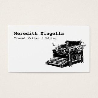 Vintage Typewriter Writer's Business Card
