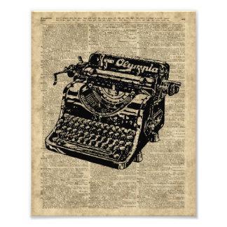 Vintage Typewritter en la página del diccionario Cojinete
