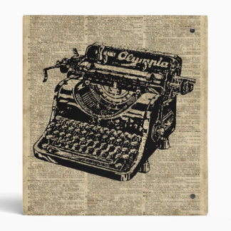 Vintage Typewritter on Dictionary page 3 Ring Binder