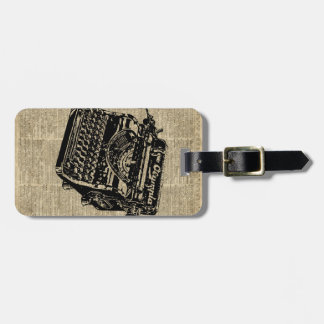 Vintage Typewritter on Dictionary page Bag Tag