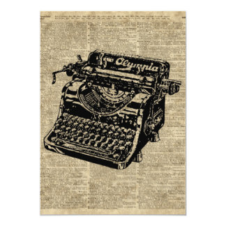 Vintage Typewritter on Dictionary page Card