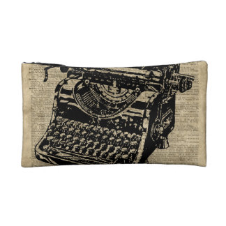 Vintage Typewritter on Dictionary page Makeup Bag