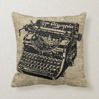 Vintage Typewritter on Dictionary page Throw Pillow