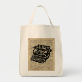 Vintage Typewritter on Dictionary page Tote Bag