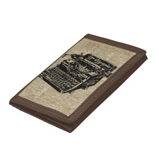 Vintage Typewritter on Dictionary page Tri-fold Wallet