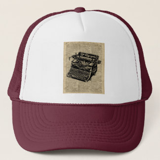Vintage Typewritter on Dictionary page Trucker Hat