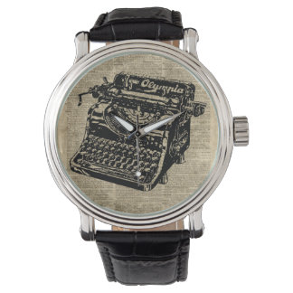 Vintage Typewritter on Dictionary page Wrist Watch