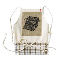 Vintage Typewritter on Dictionary page Zazzle HEART Apron