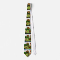 Vintage Typical Cow Breeds On The Farm Neck Tie