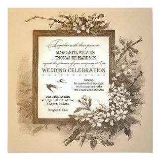 vintage typographic unique elegant wedding invites