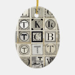 Vintage Typographical Letters Ornaments